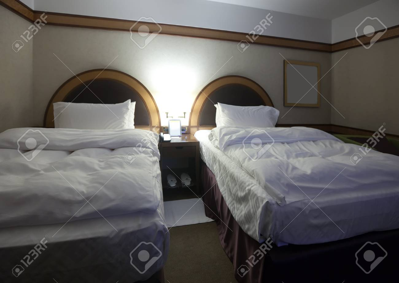 interior of bedroom with two bed Stock Photo - 12591497