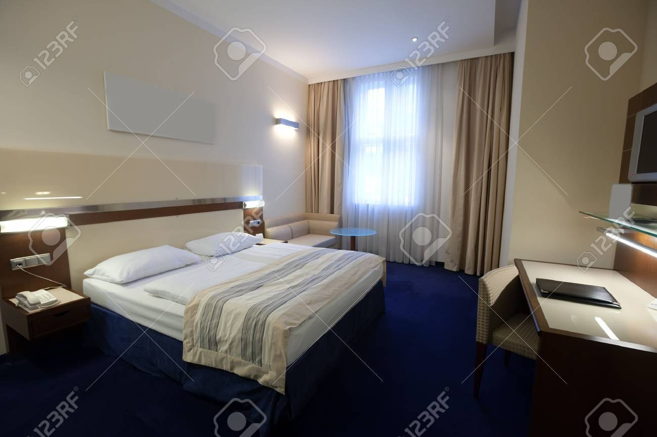 interior of  simple bedroom with  bed Stock Photo - 12591480