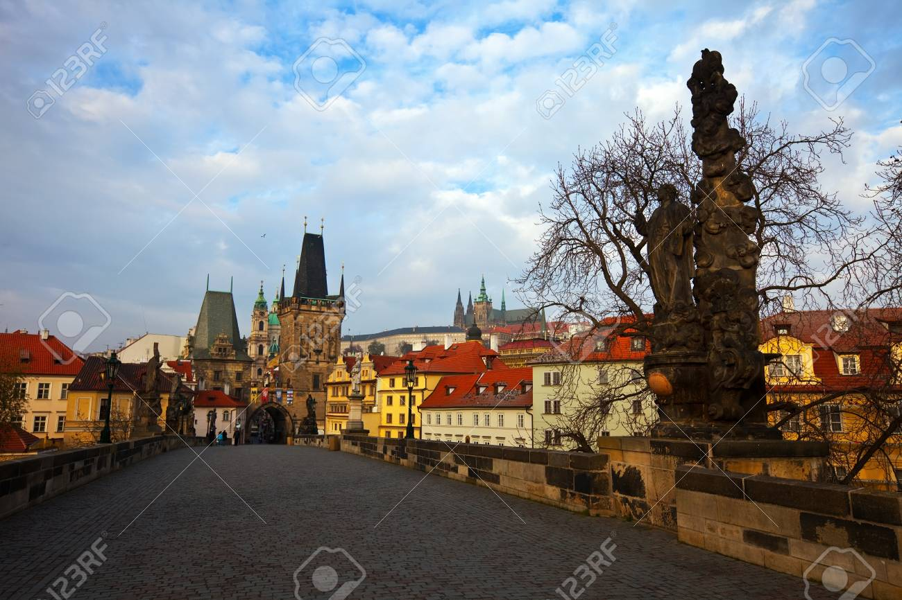 Day view of  Charles bridge. Prague, Czech Republic Stock Photo - 12793852