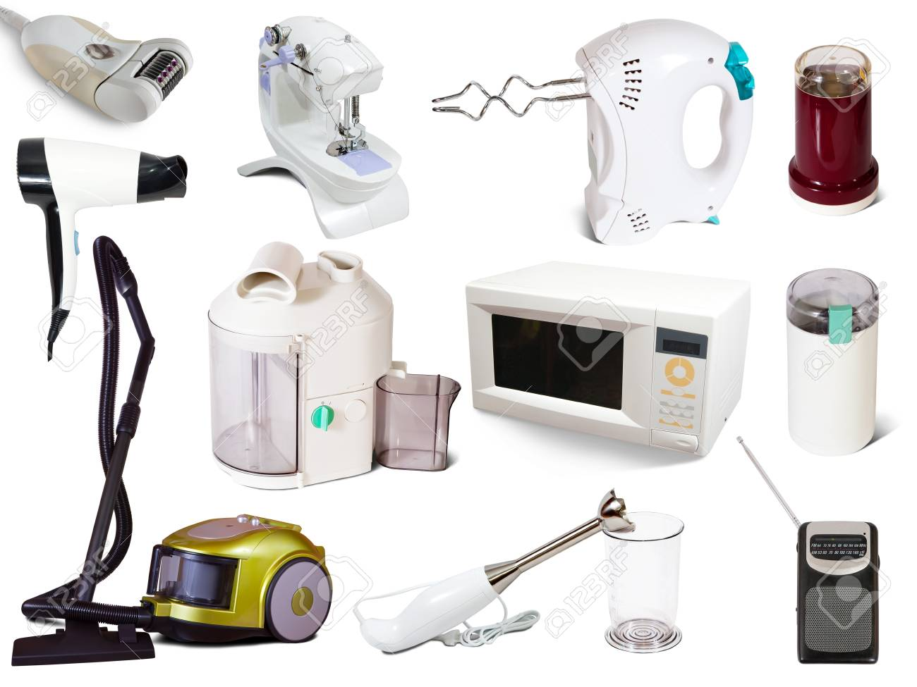 Set of  household appliances. Isolated on white background with shadows Stock Photo - 13453726