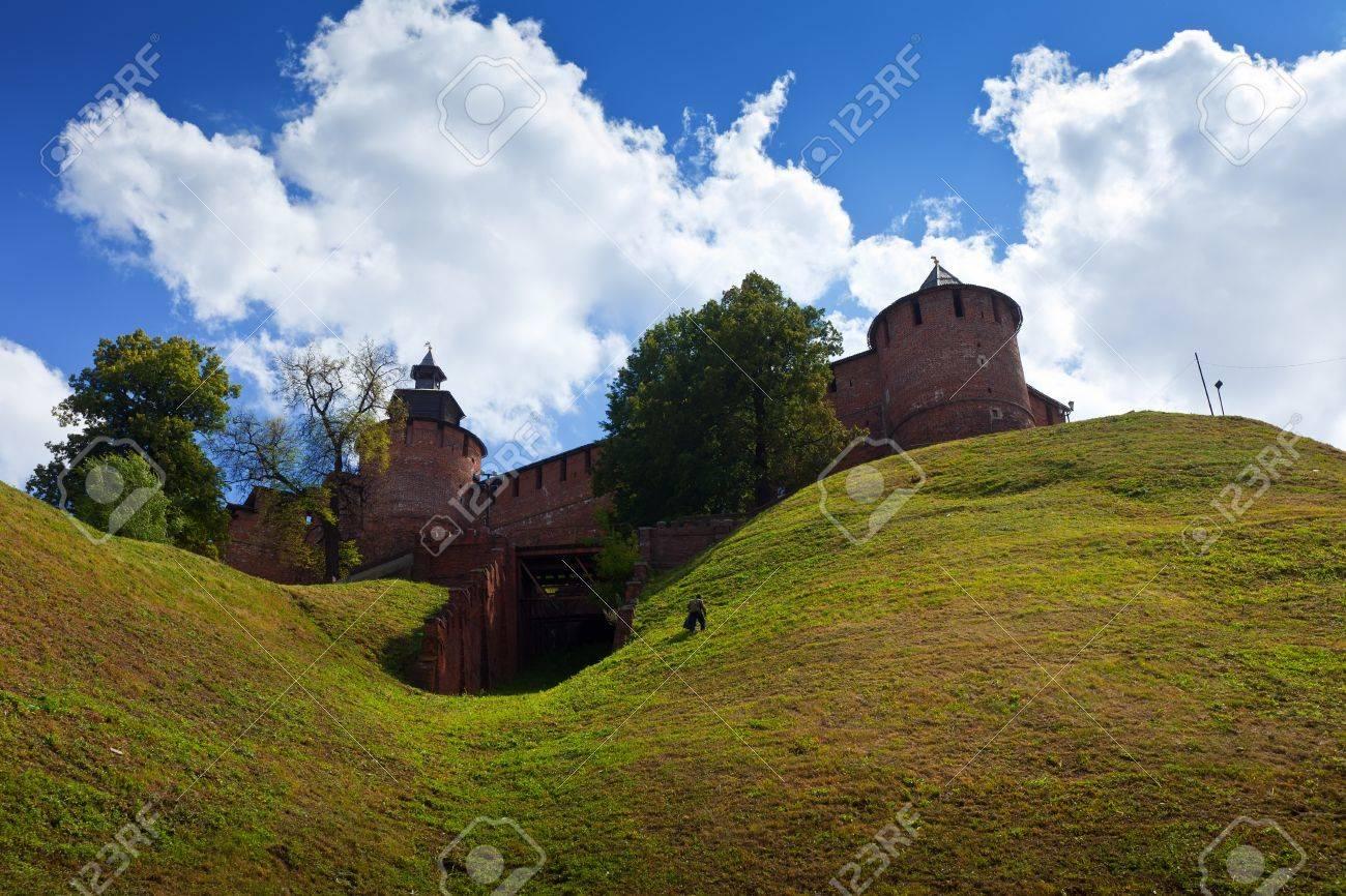 Kremlin wall at Nizhny Novgorod in summer. Russia Stock Photo - 14740207
