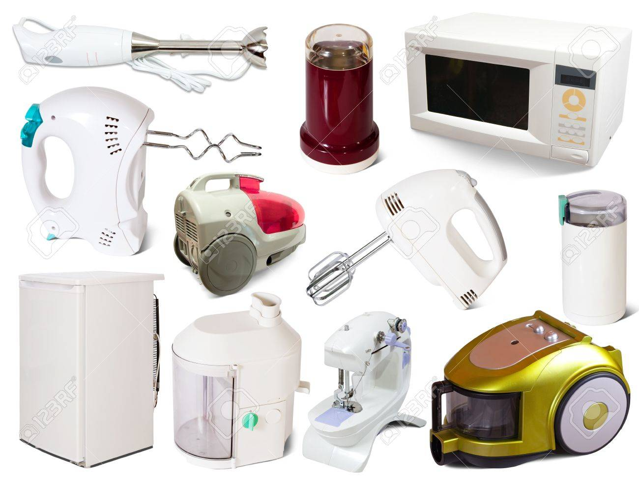 Set of  household appliances. Isolated on white background Stock Photo - 14741275