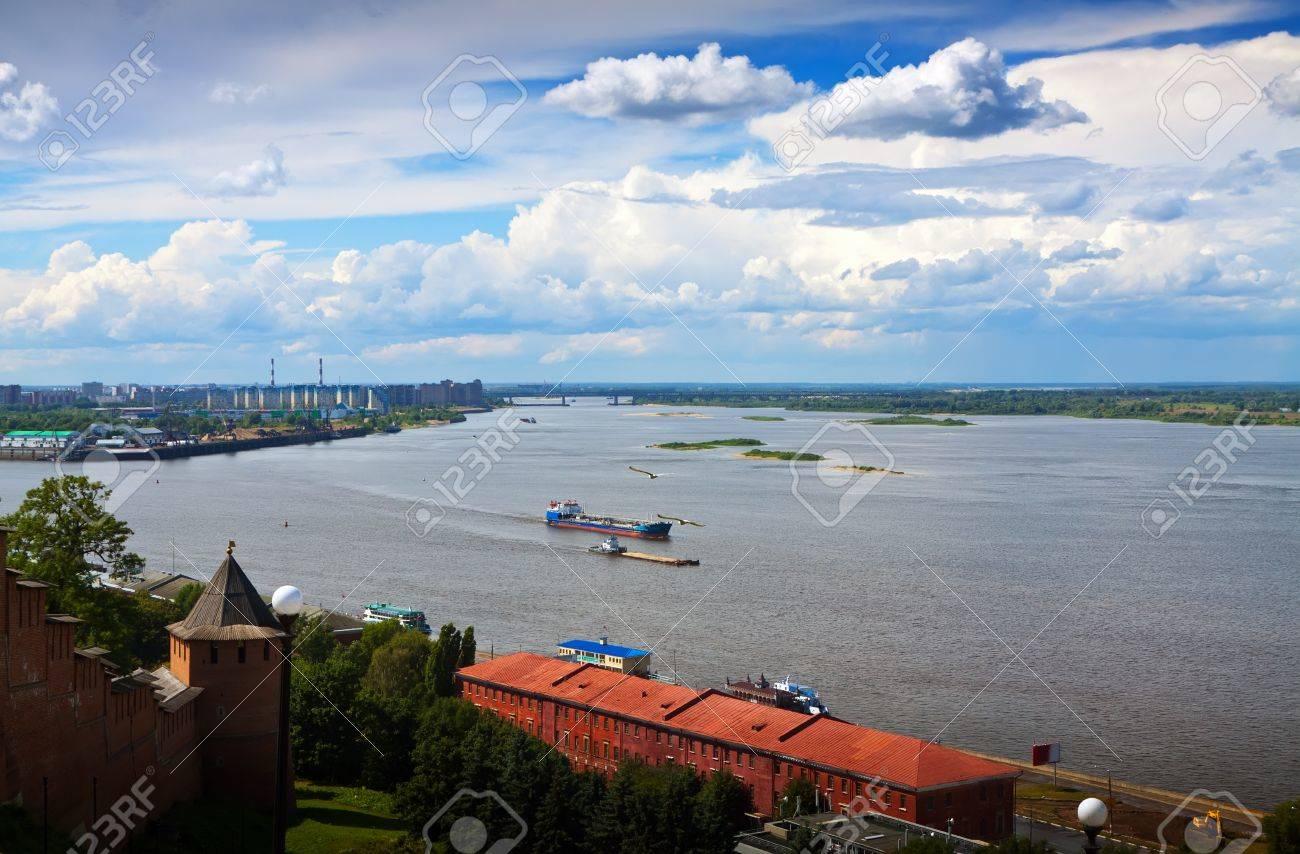 View of Nizhny Novgorod. Junction of Oka river with Volga River Stock Photo - 14757979