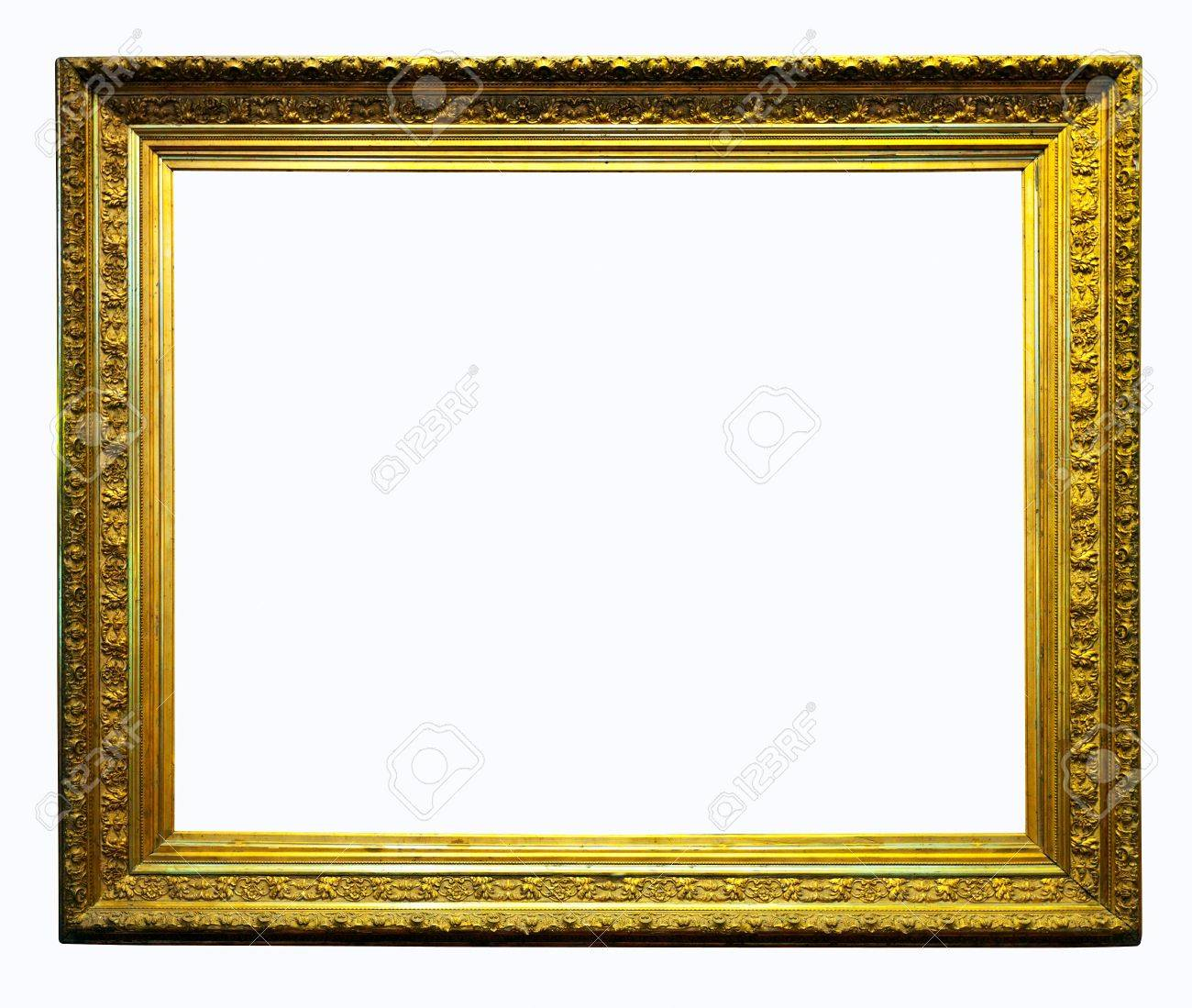 luxury gilded frame isolated over white background with clipping path stock photo 15183428