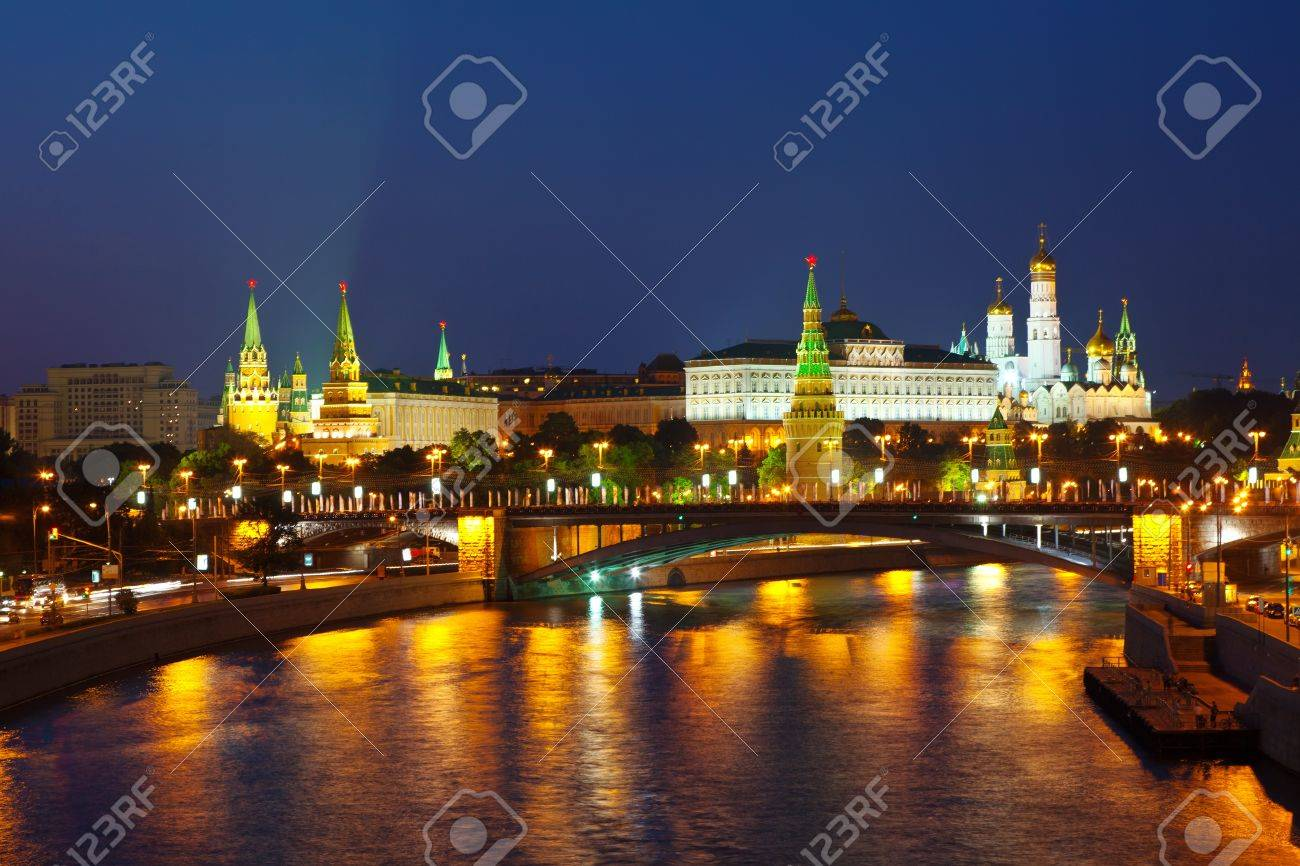 View of Moscow Kremlin in summer night. Russia Stock Photo - 15588600