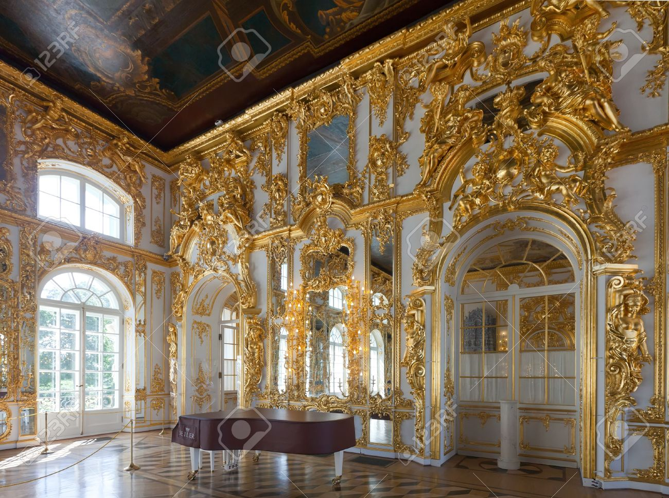 ST PETERSBURG, RUSSIA - AUGUST 2: Interior of Catherine Palace