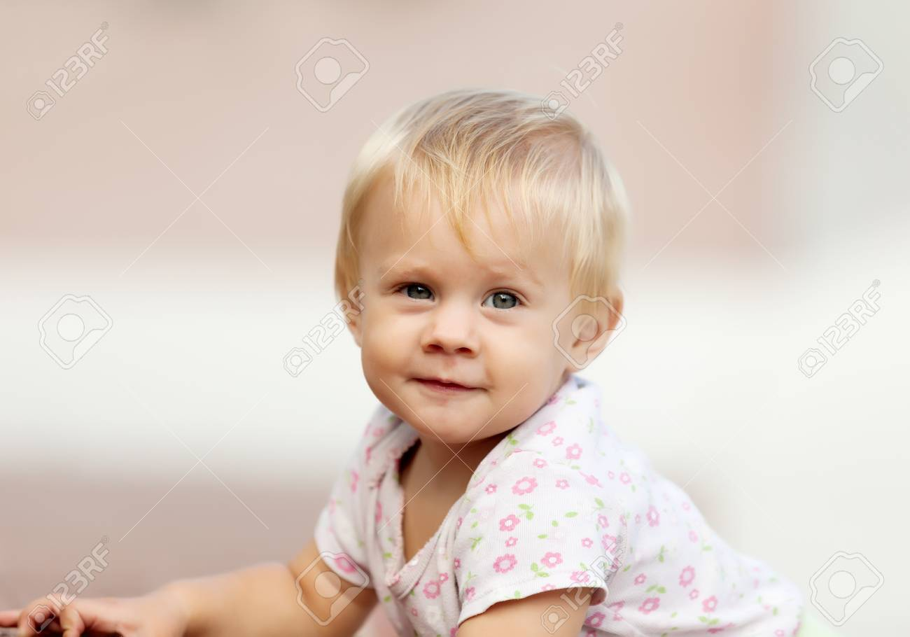 Ourfoor portrait of cute toddler Stock Photo - 22399386