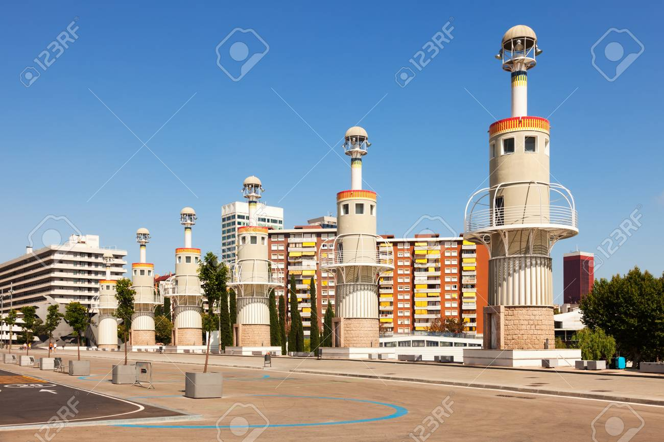 Parc de Espanya Industrial in summer day. Barcelona, Spain Stock Photo - 23355601