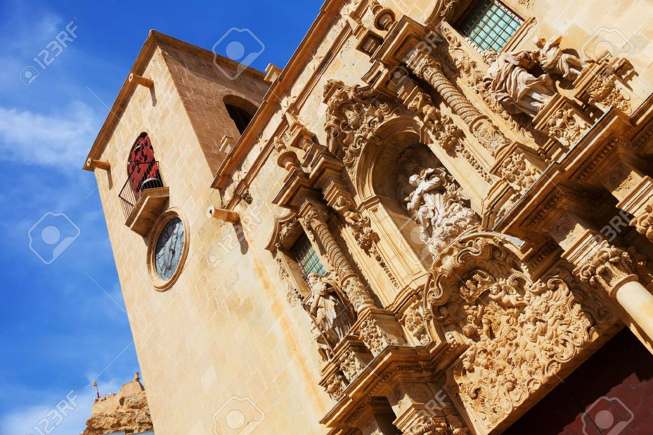 Close Up Of Basilica De Santa Maria Alicante