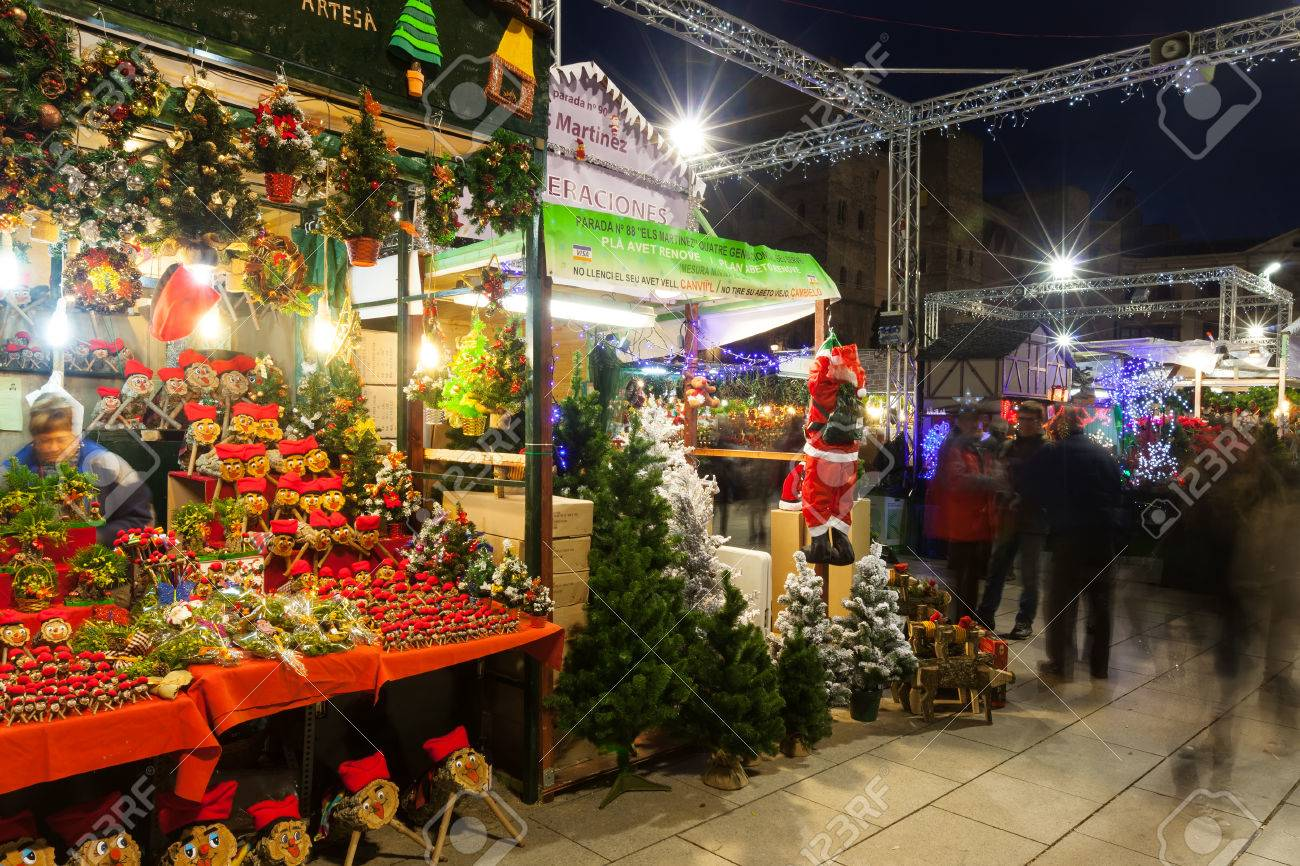 Christmas In Barcelona Spain.Barcelona Spain December 2 Traditional Toys And Gifts At