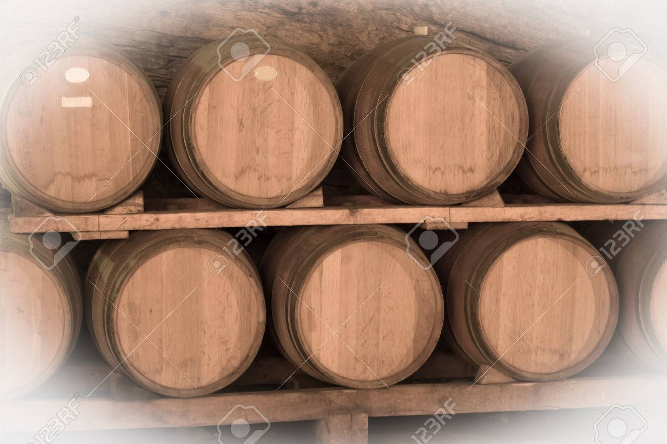 Immitation of Aged image of old winemakers cellar with many barrels Stock Photo - 31764998 & Immitation Of Aged Image Of Old Winemakers Cellar With Many Barrels ...