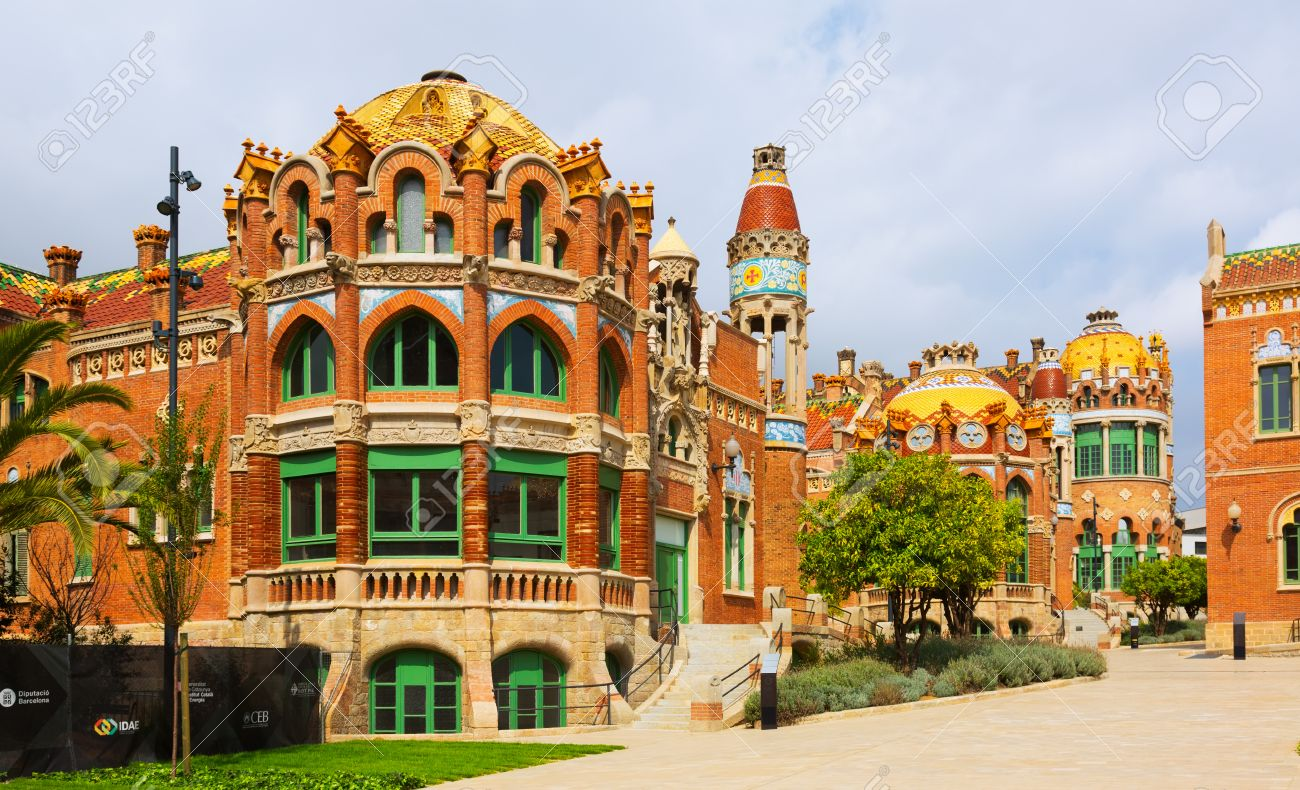 BARCELONA, SPAIN   SEPTEMBER 13, 2014: Hospital De Sant Pau By Catalan  Modernist