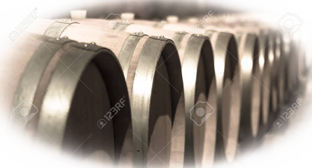 Aged image of old winemakers cellar with many barrels Stock Photo - 35200282  sc 1 st  123RF.com & Aged Image Of Old Winemakers Cellar With Many Barrels Stock Photo ...