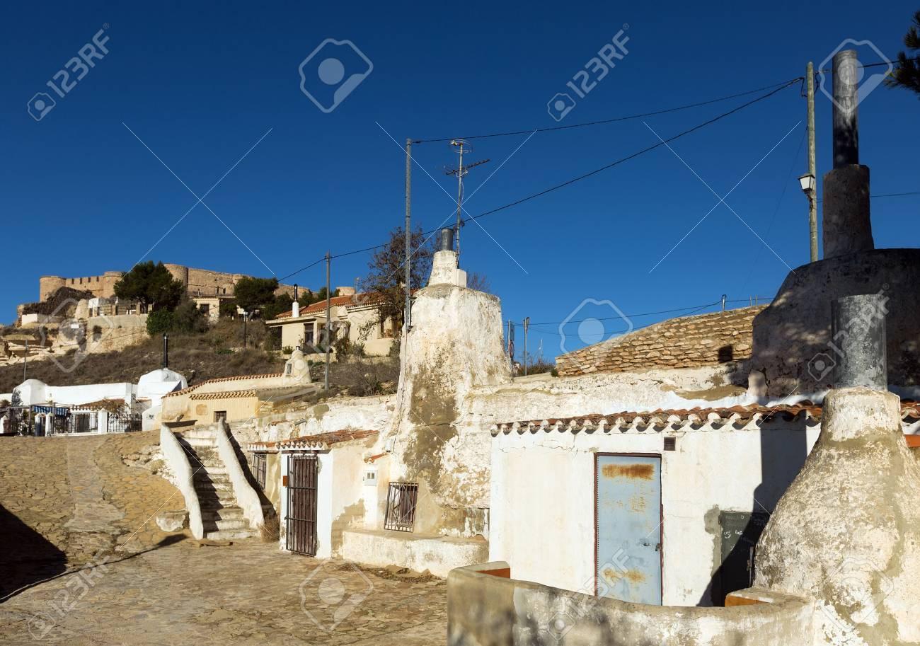 住居家洞窟は、岩に組み込まれて...