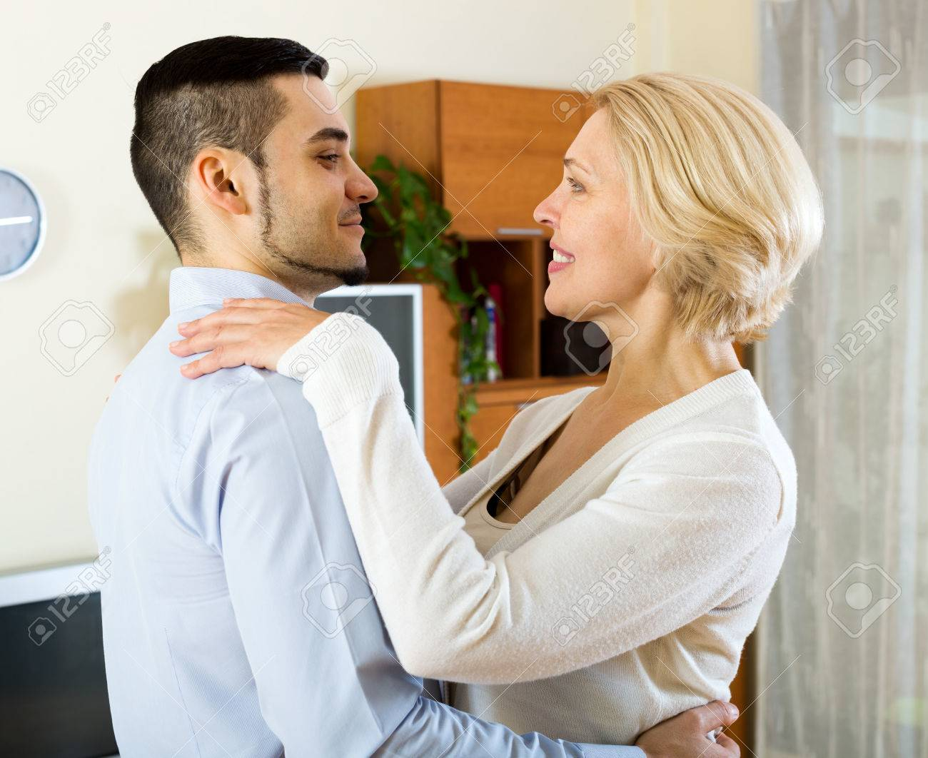 Mature Woman With His Boyfriend