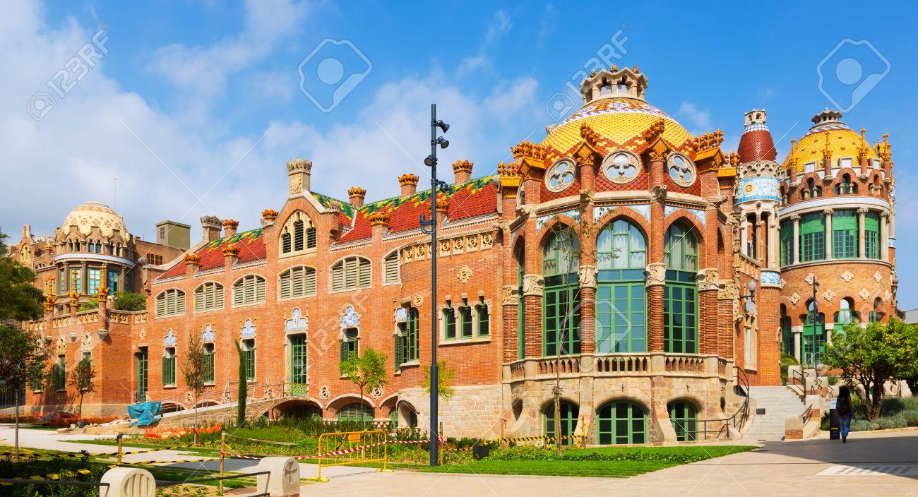 Amazing BARCELONA, SPAIN   SEPTEMBER 13, 2014: Hospital De Sant Pau By Catalan  Modernist