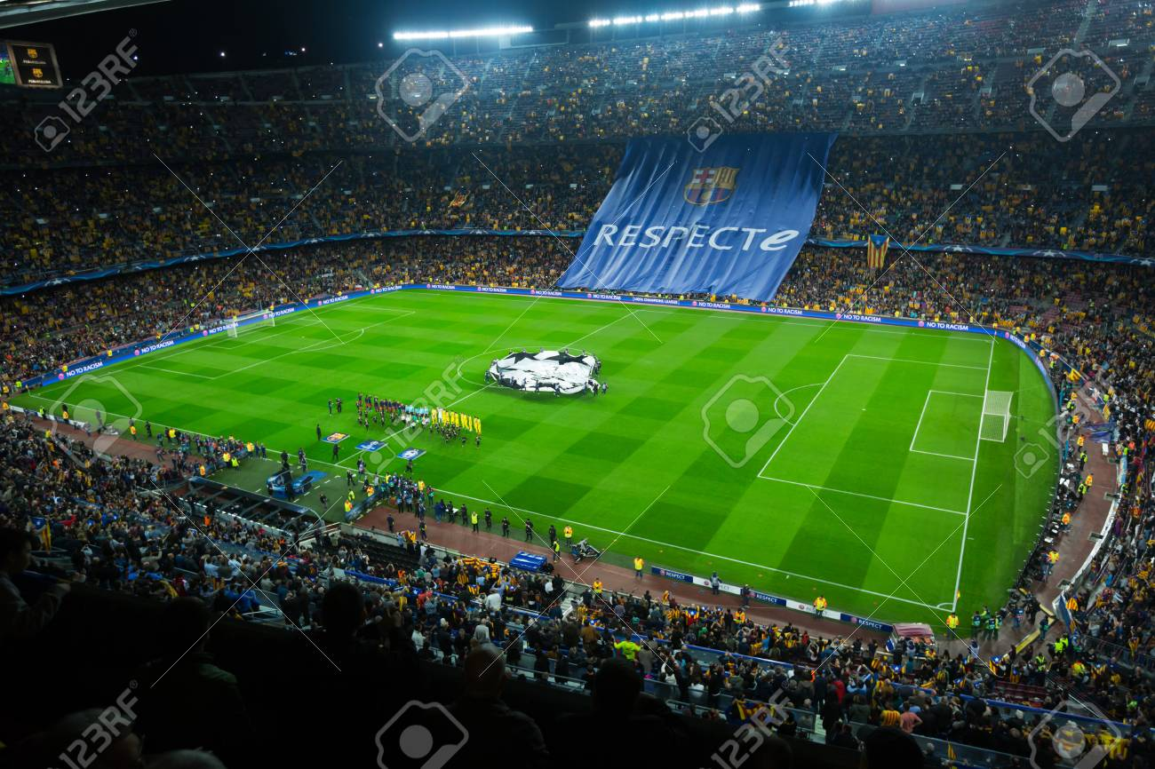 Barcelona Spain November 04 2015 Above View At Field And Stock Photo Picture And Royalty Free Image Image 55623428