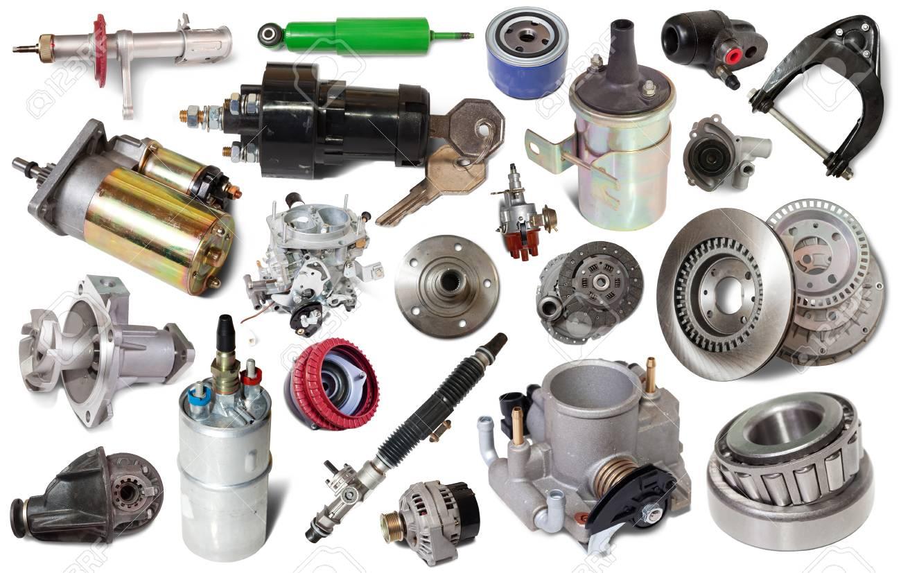 Grote Verzameling Van Mechanische Auto Onderdelen Voor Onderhoud