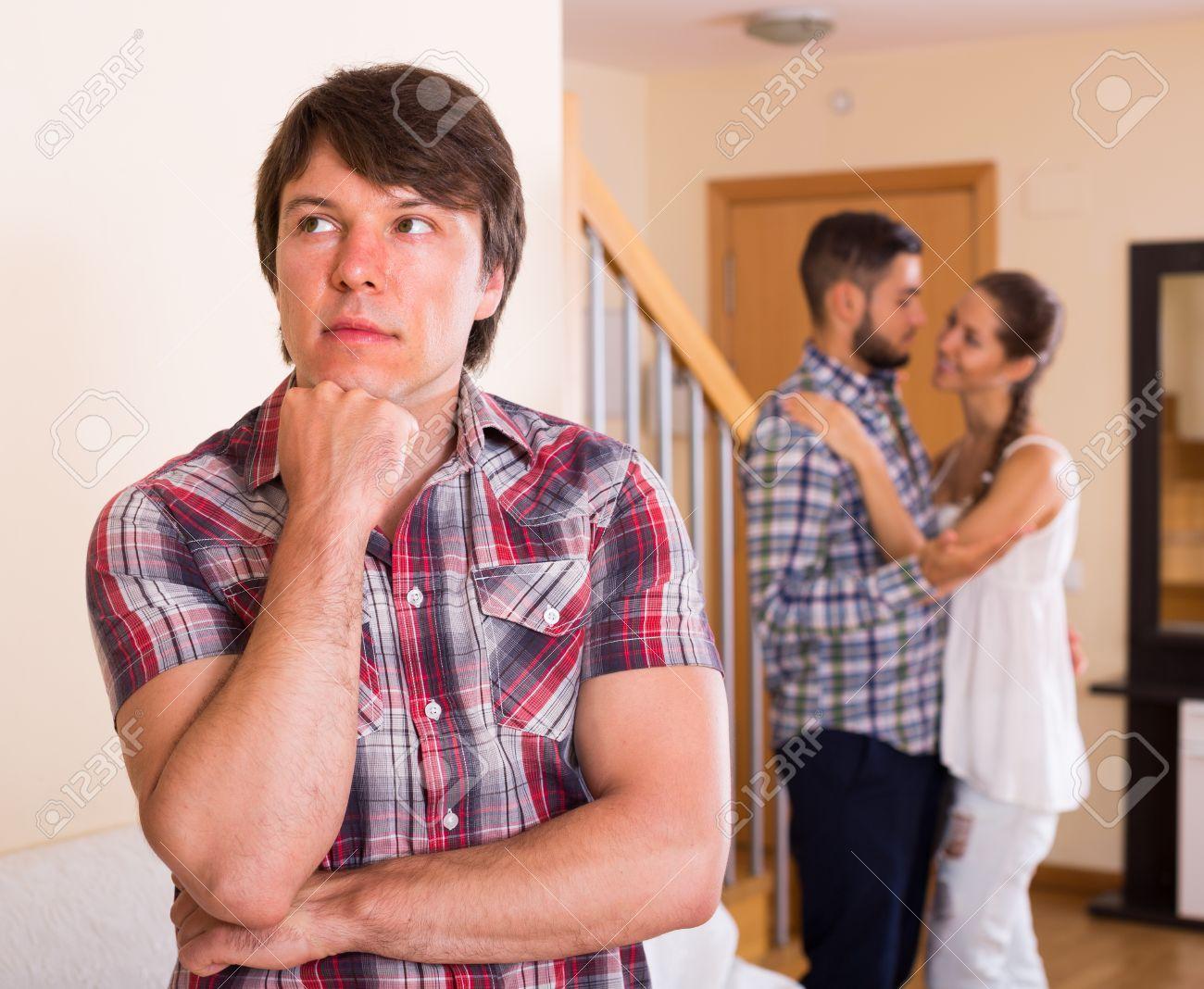 Wife flirting with friend