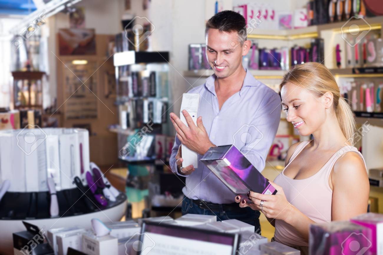 Couples going to sex store