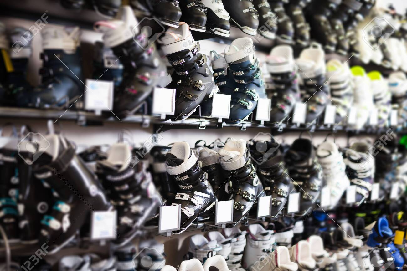 Ski Boots Sale >> New Modern Ski Boots For Sale In Modern Store Of Sports Equipment