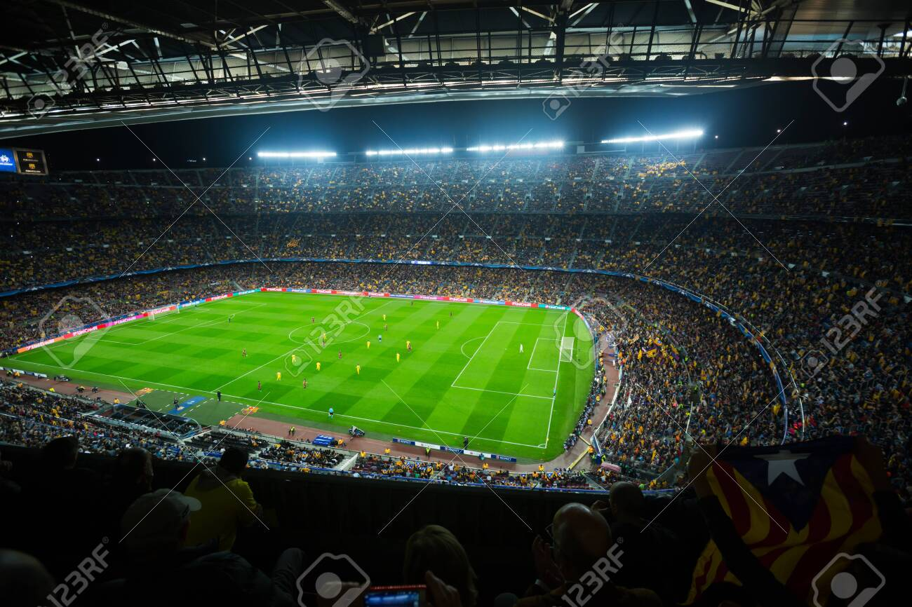 Barcelona Spain November 04 2015 Above View At Field And Stock Photo Picture And Royalty Free Image Image 133916469