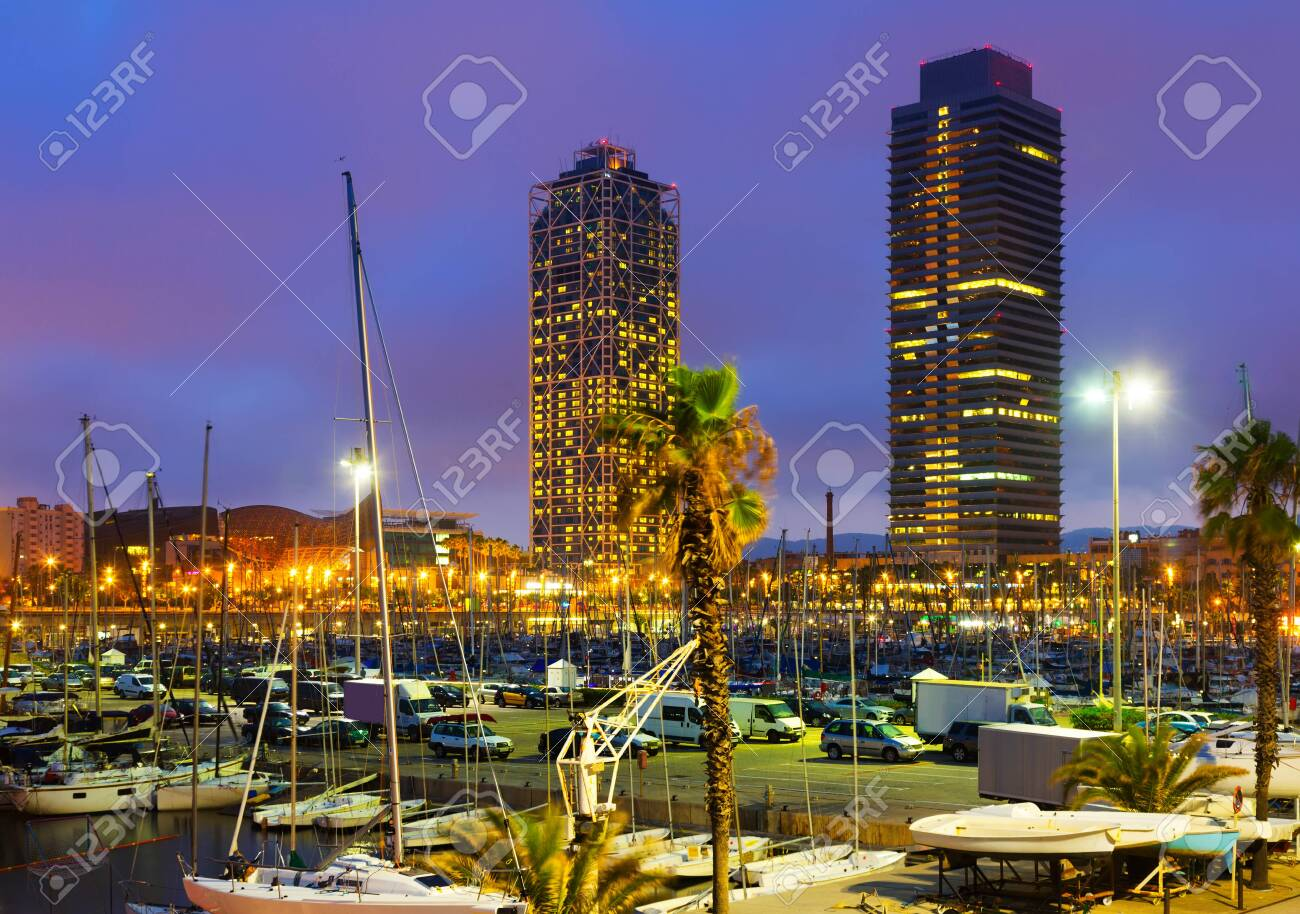 Evening view of Port in Barcelona. Catalonia, Spain - 149482926