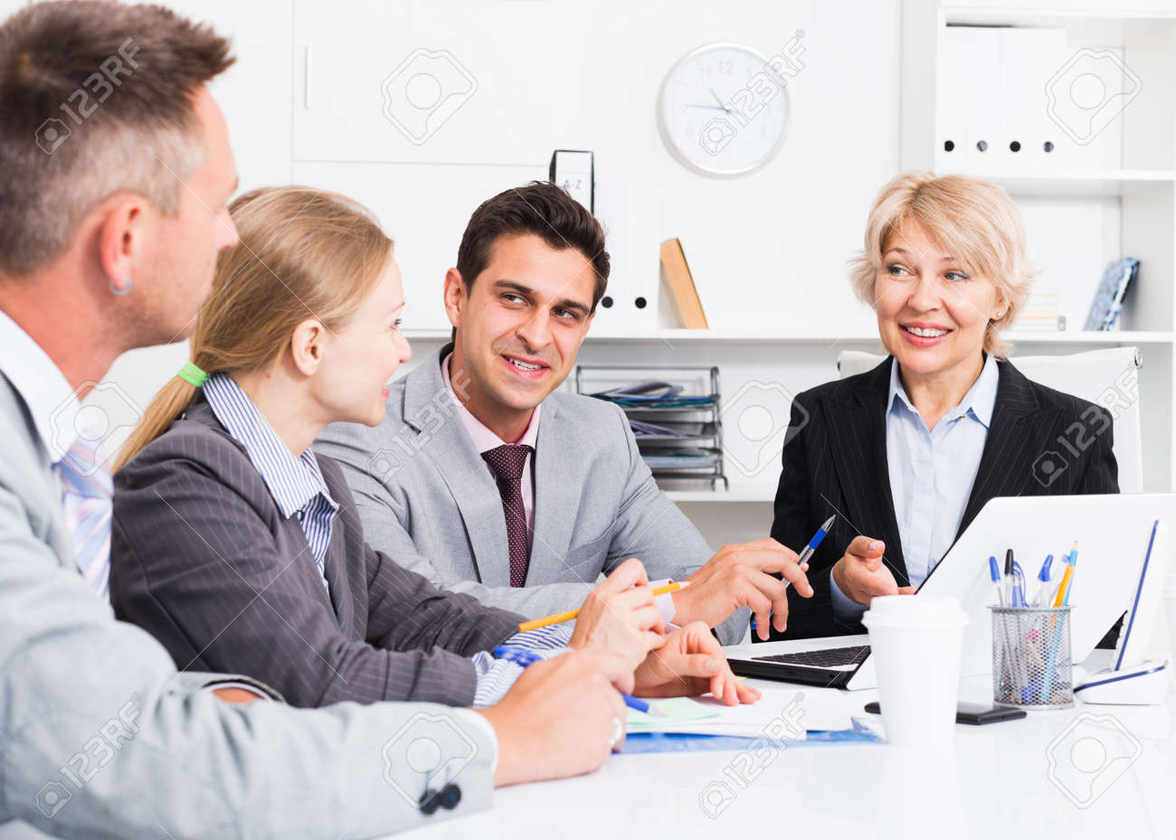 Business people developing strategy in office - 158469889