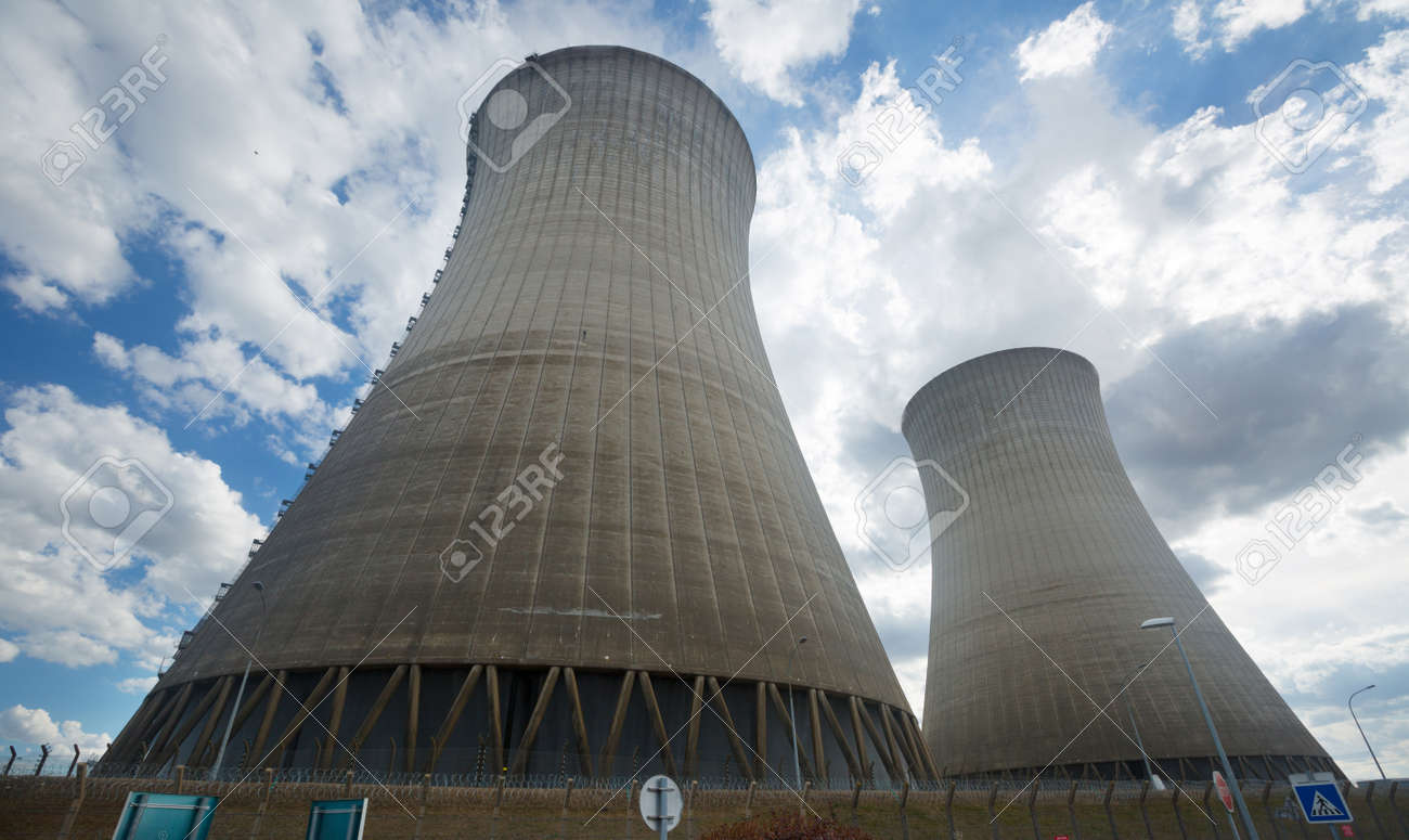 View of Nuclear Power Plant - 166436730