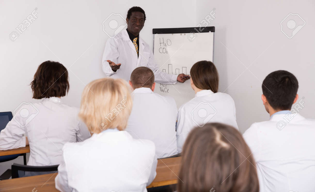 African American male lecturing at medical conference - 167182072