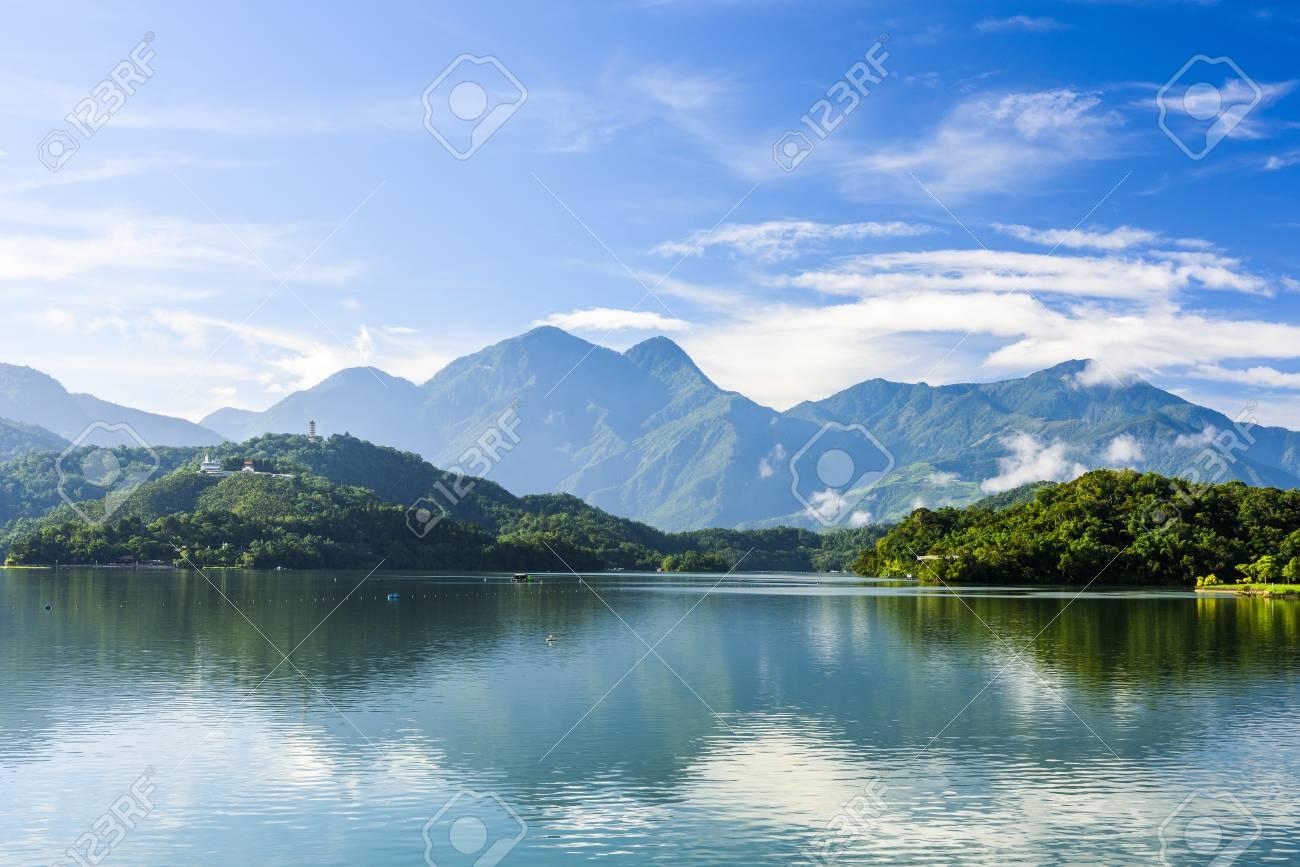 Scenery of Sun Moon Lake in Taiwan, Asia. - 93936115