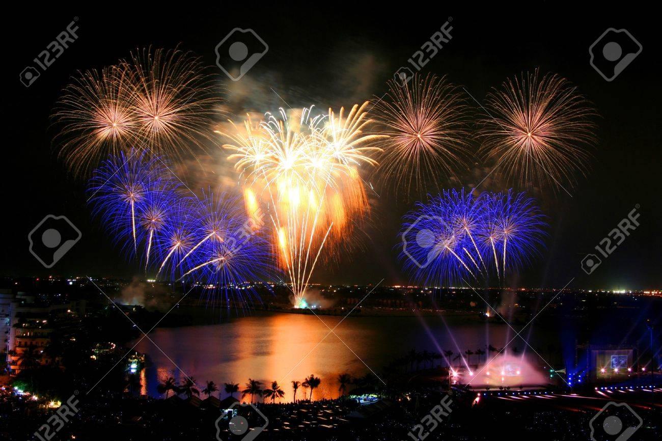 Beautiful firework in Thailand Stock Photo - 7472224