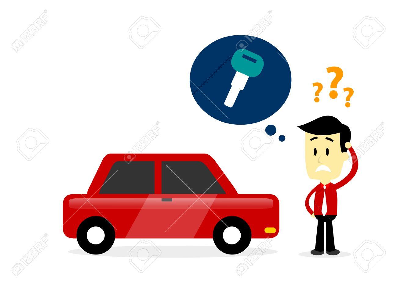 Man Vergaß Wo Er Seine Autoschlüssel Suche Nach Fehlende Seine