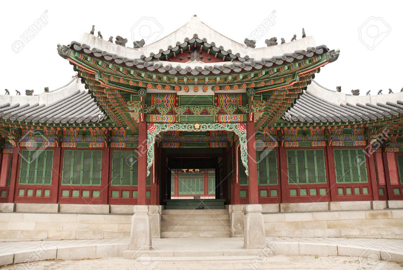 Temple Architecture In Seoul South Korea Stock Photo