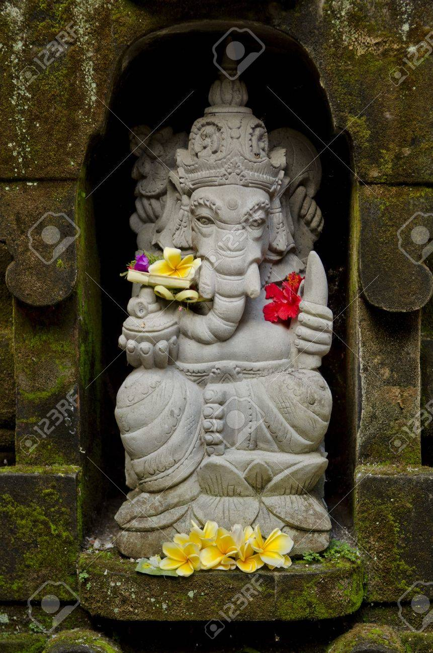 Ganesh Statue In Bali Indonesia Temple