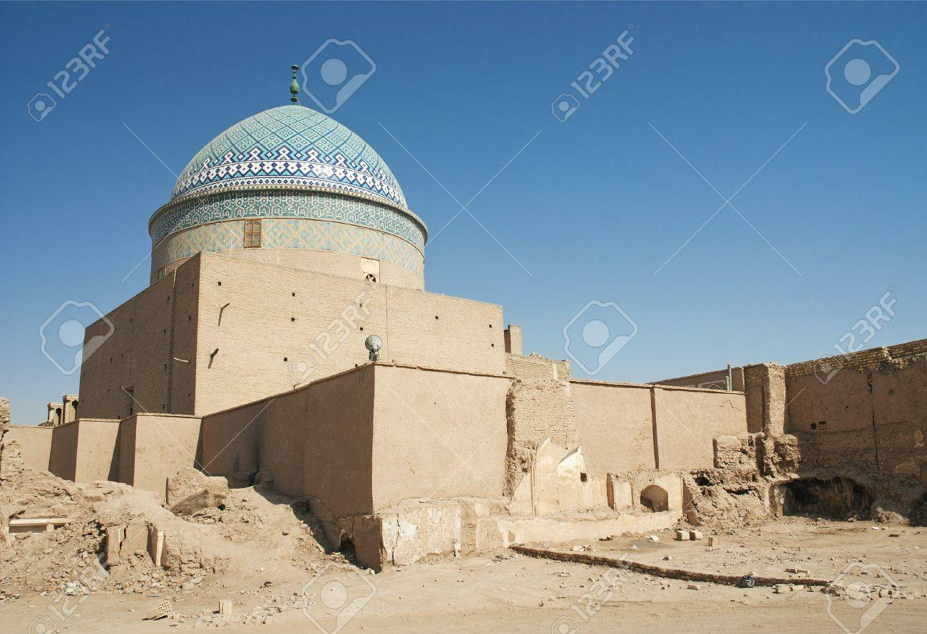 mosque in yazd old town iran Stock Photo - 10495151
