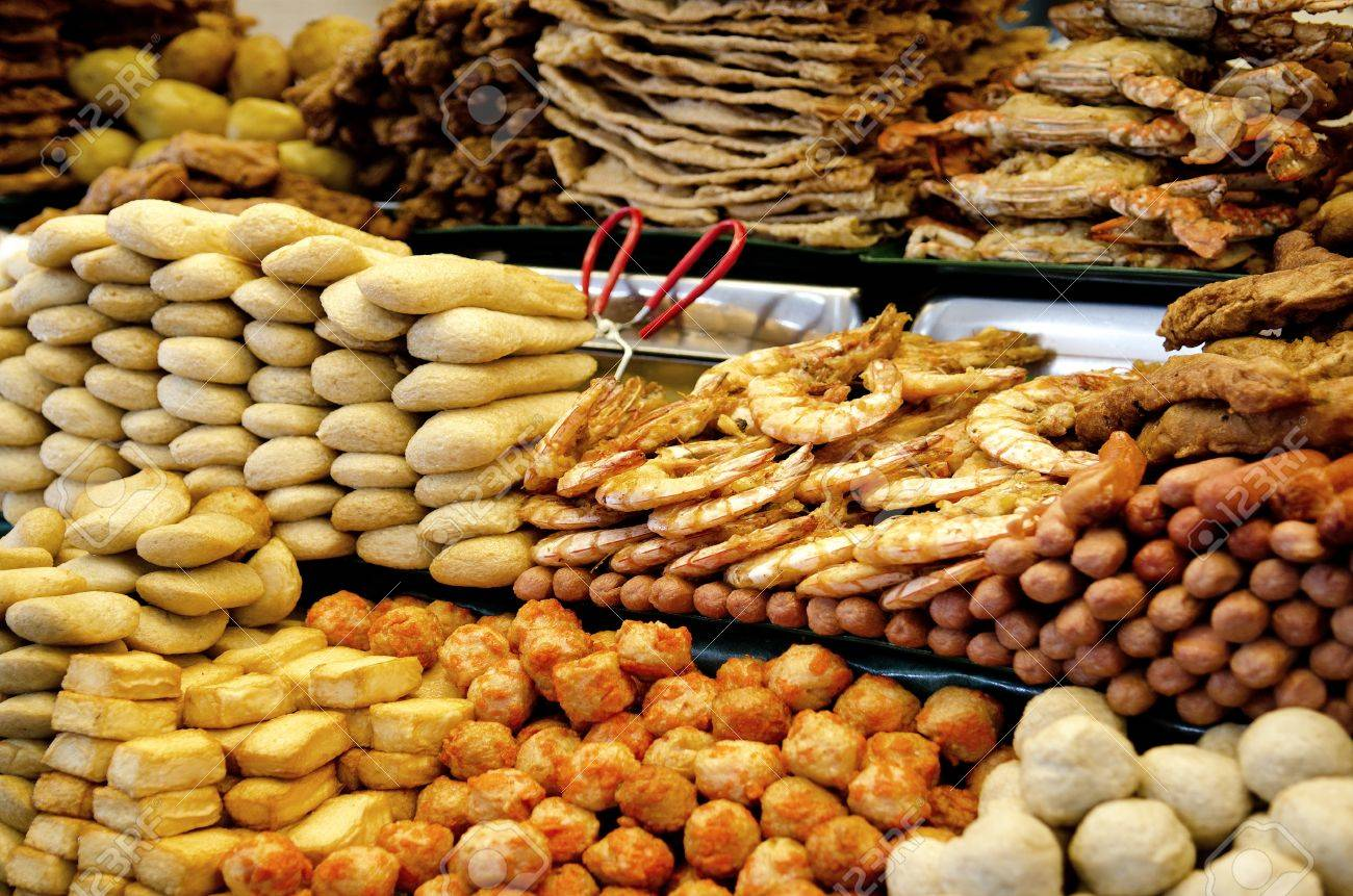 Malaysian Snacks In Penang Malaysia Market Stock Photo, Picture ...