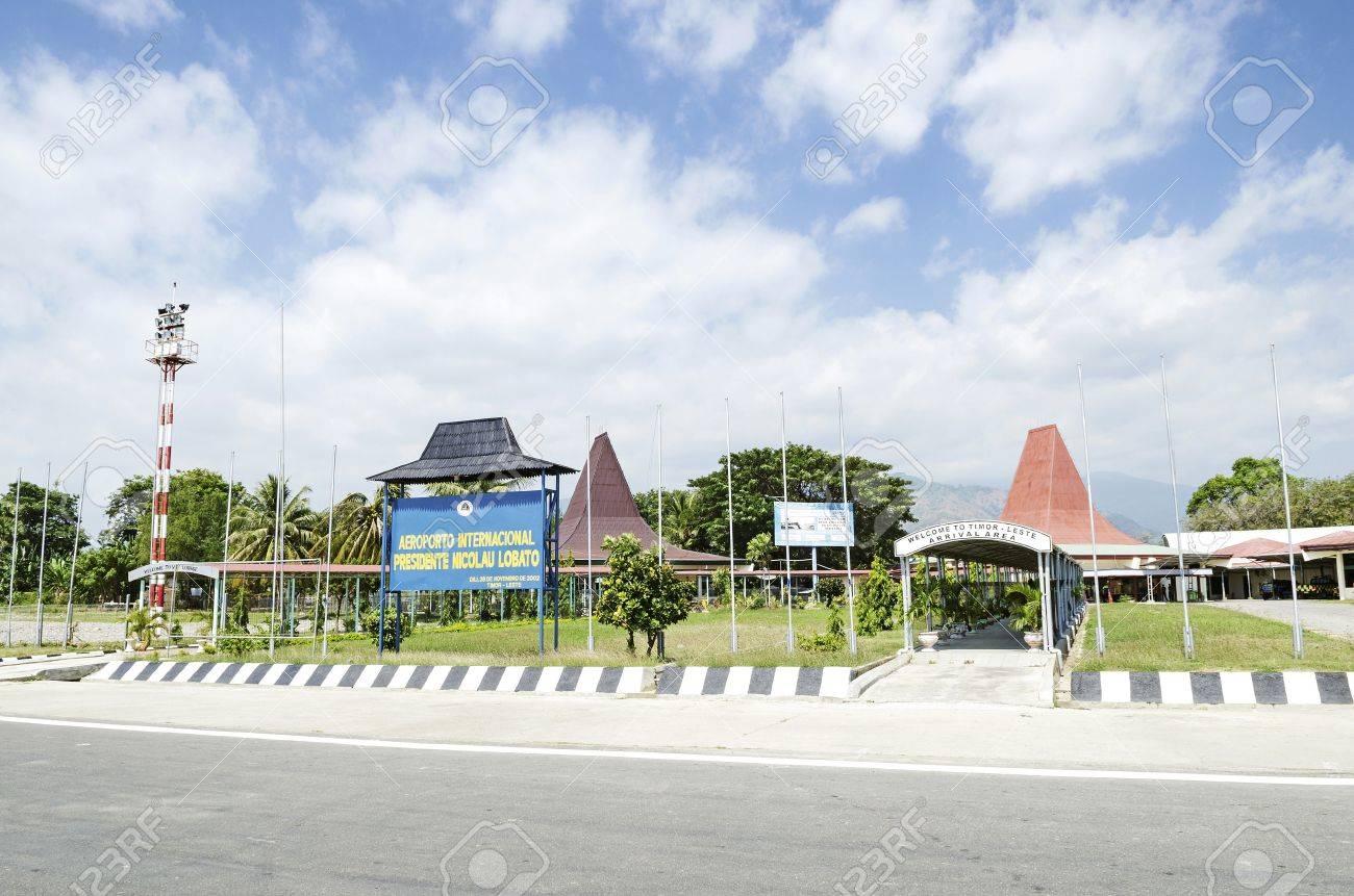 Aeroporto Dili : Ctghrb nicolau lobito international airport in dili east timor stock