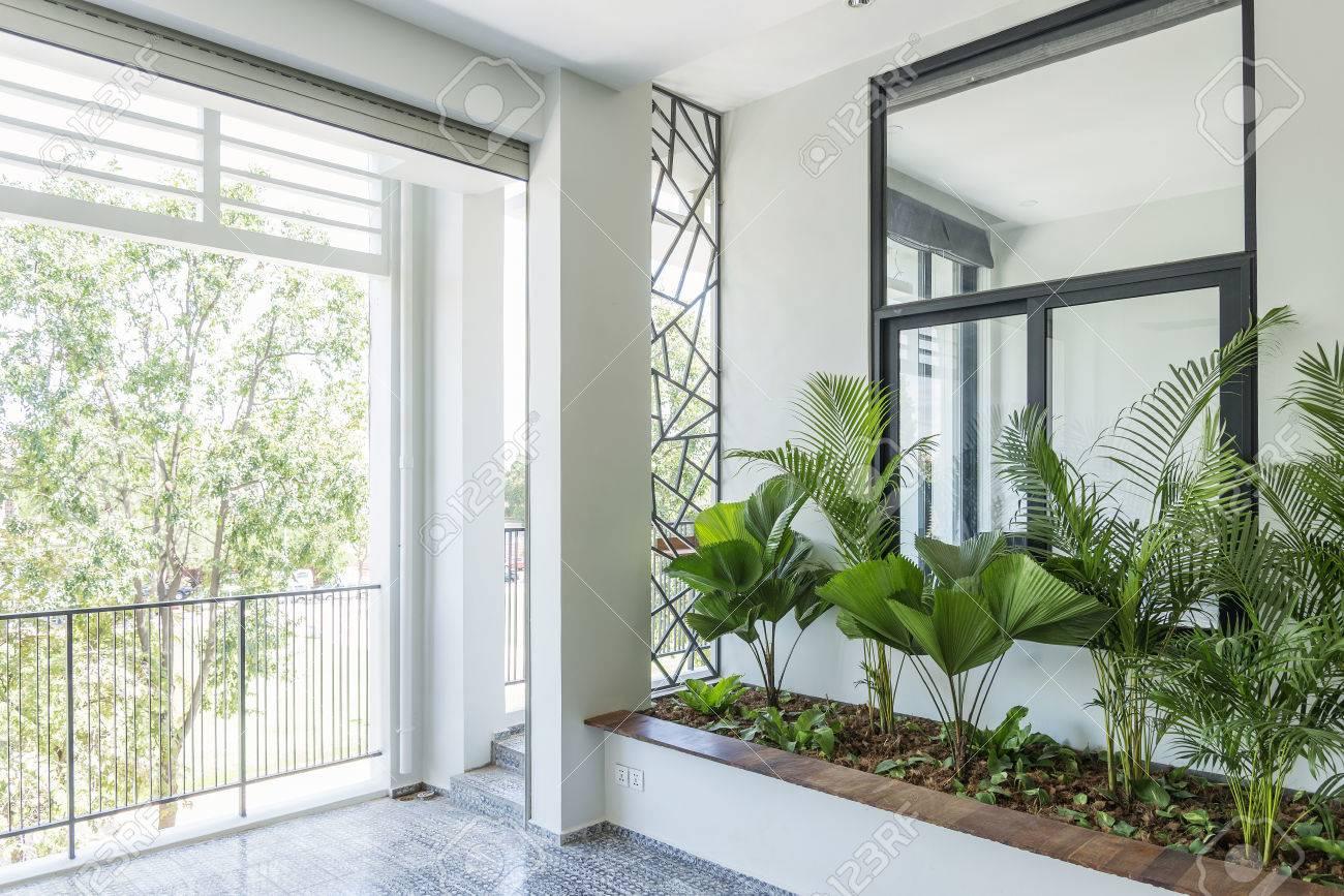 Moderne Zeitgenössische Innenarchitektur Balkon Gartenpflanzen ...