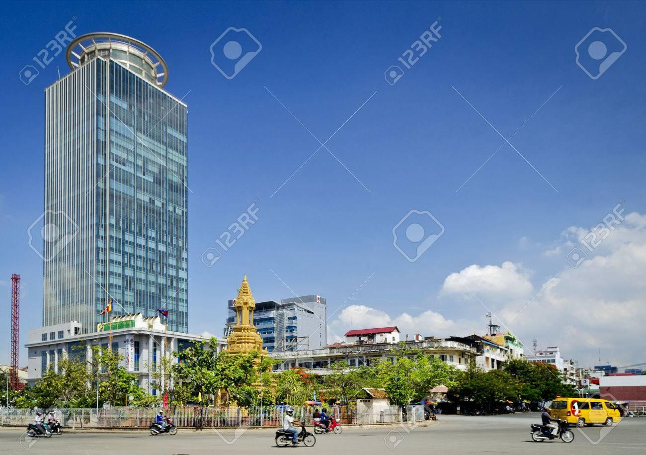 Canadia Bank Tower Moderne Architektur Gebaude Wolkenkratzer Im
