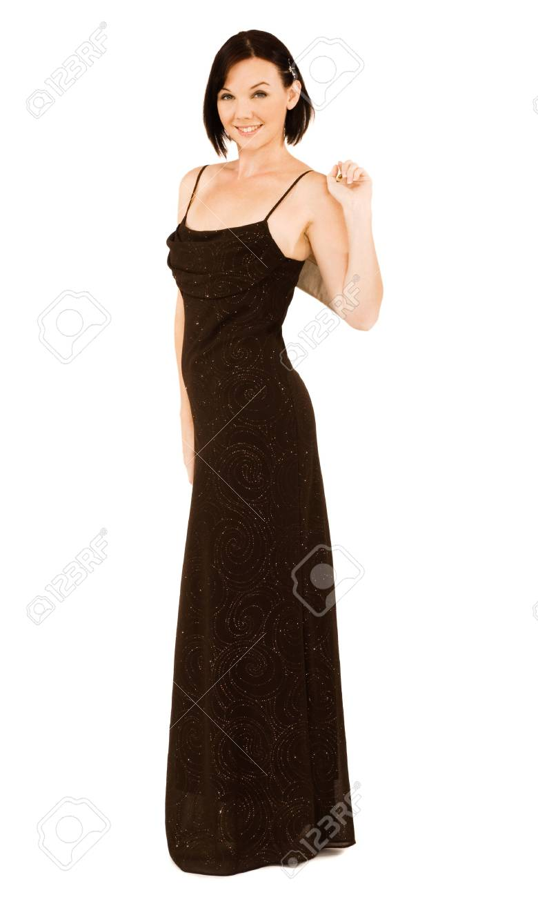 Portrait of a woman posing isolated over white Stock Photo - 5235253
