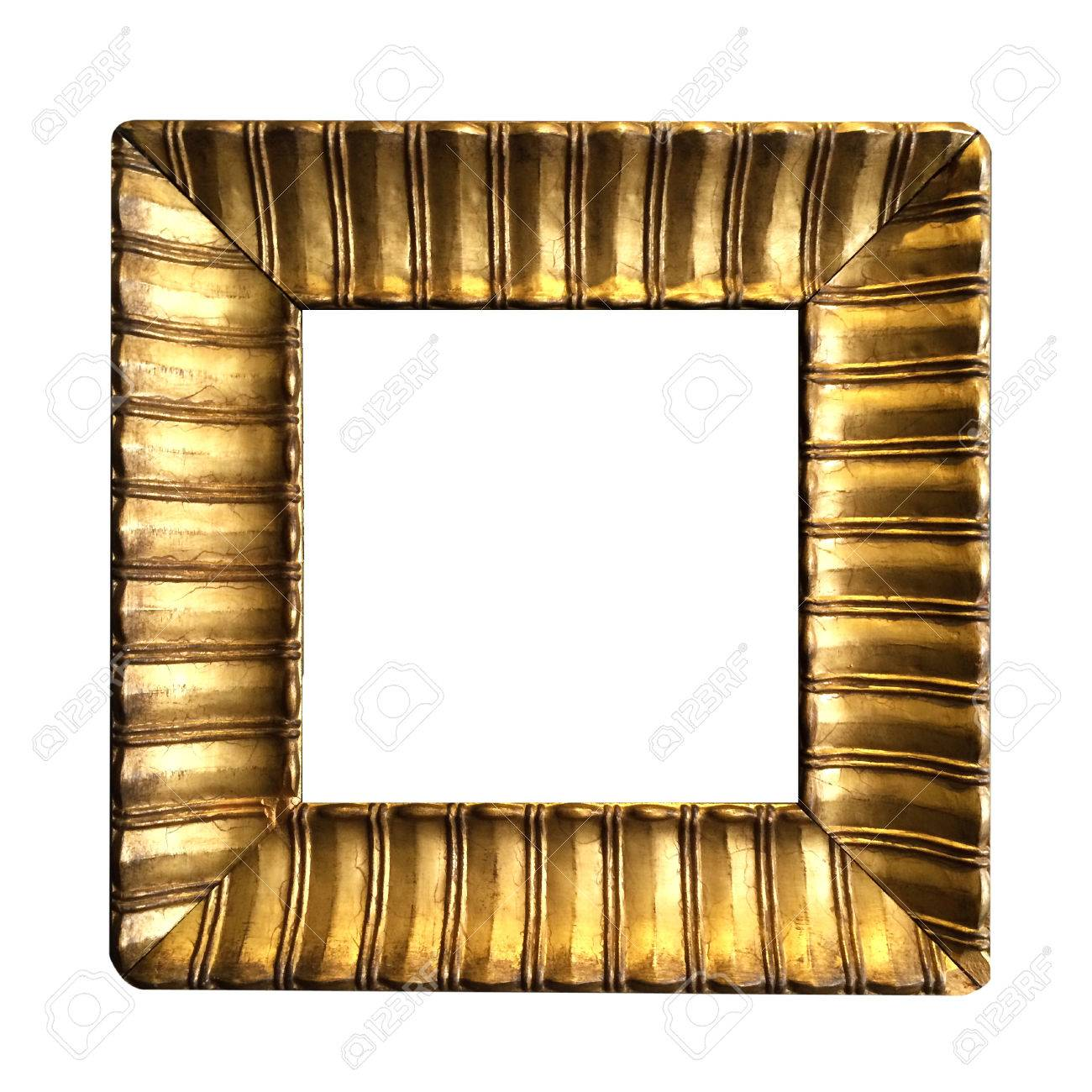 d3d4a12eba1b antique blank golden frame isolated on white background Stock Photo -  41929089