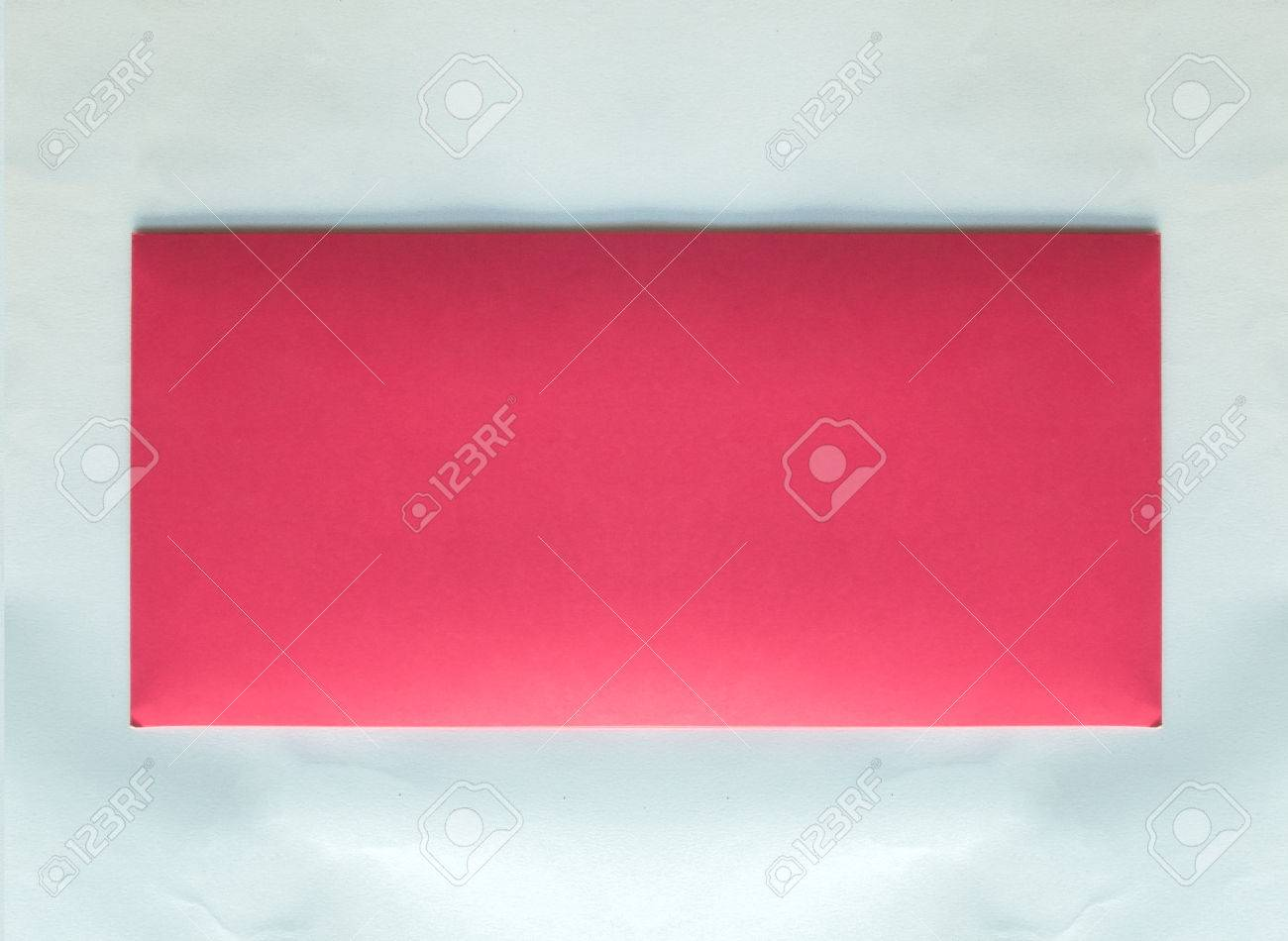 Front Of Classic Pastel Pink Envelope With Copy Space To Input ...