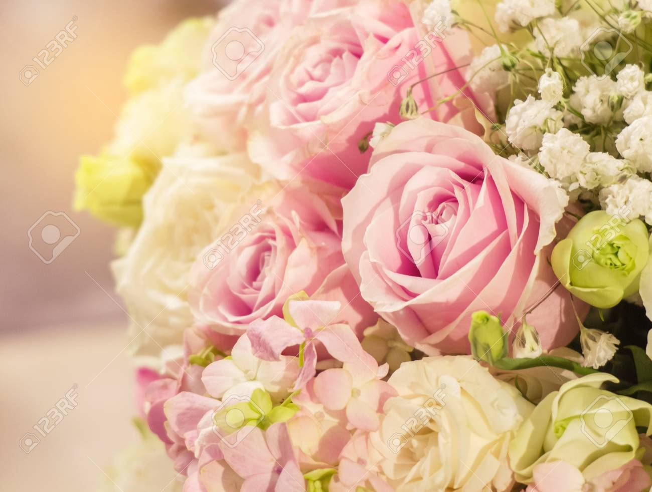 The Beautiful Romantic Pink Rose Pattern In The Big Bouquet Of Stock Photo Picture And Royalty Free Image Image 68969644
