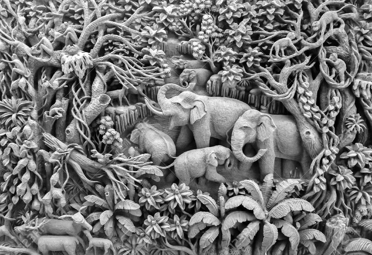 Schöne Thailand Antike Kunst Handgefertigte Möbel. Schnitzereien ...