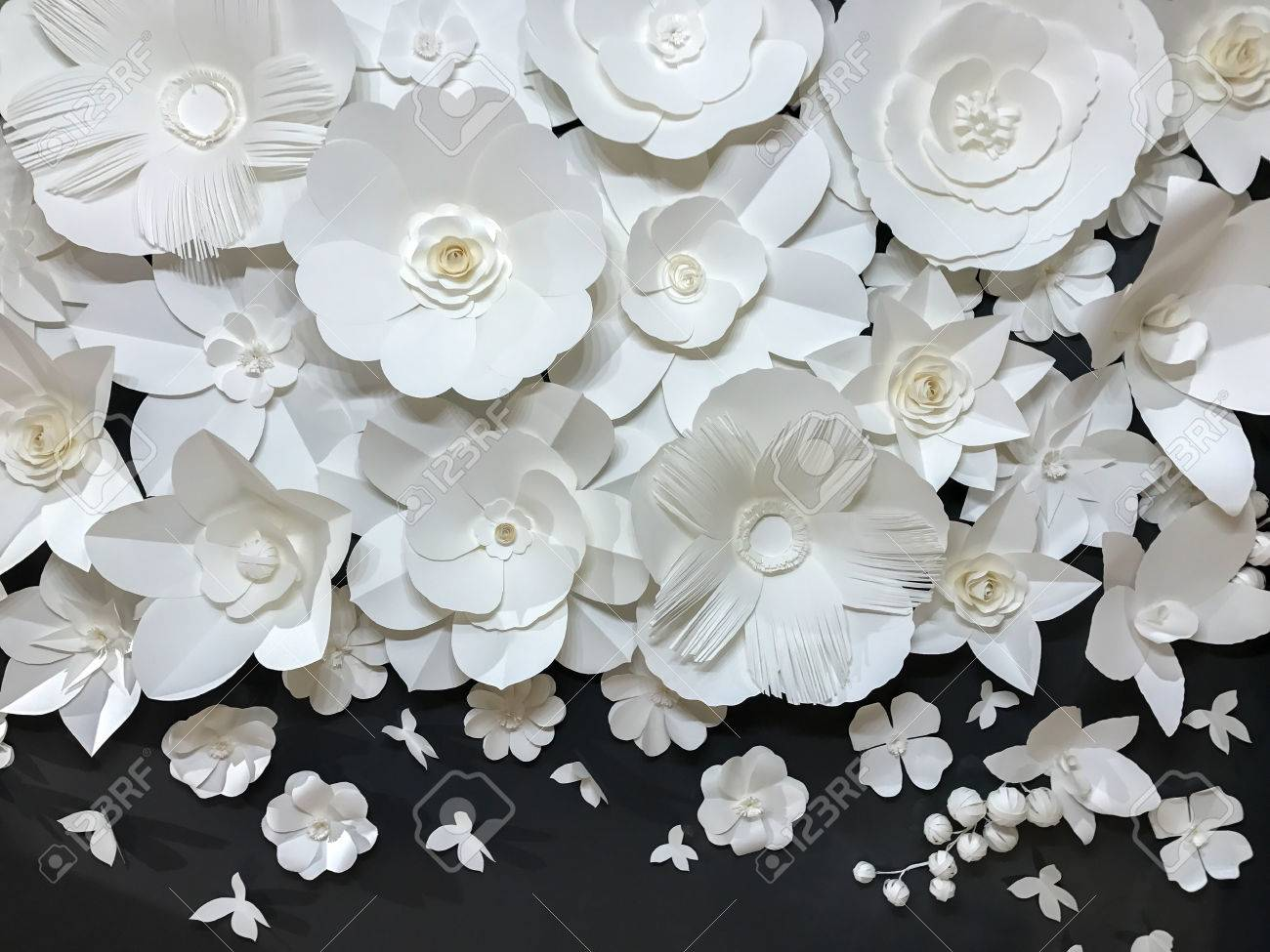 Beautiful Group Of Variety Style Handmade Quilling 3d Art White ...