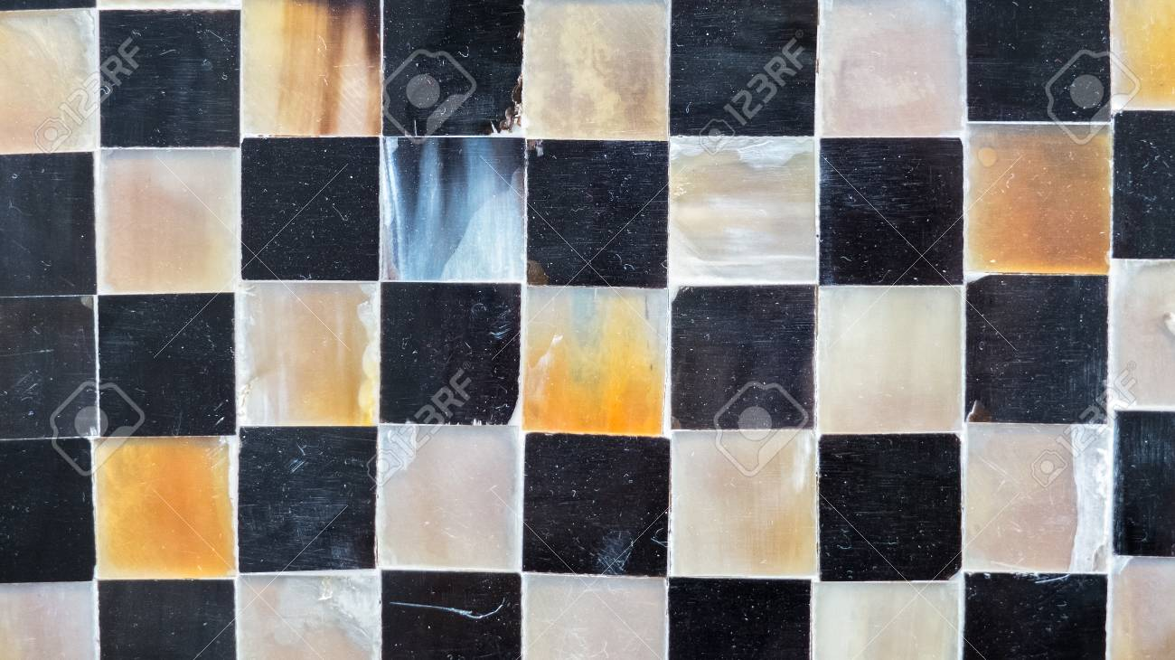 Abstract shiny flooring tile glass in monotone mix black white abstract shiny flooring tile glass in monotone mix black white grey mosaic square seamless pattern background dailygadgetfo Images