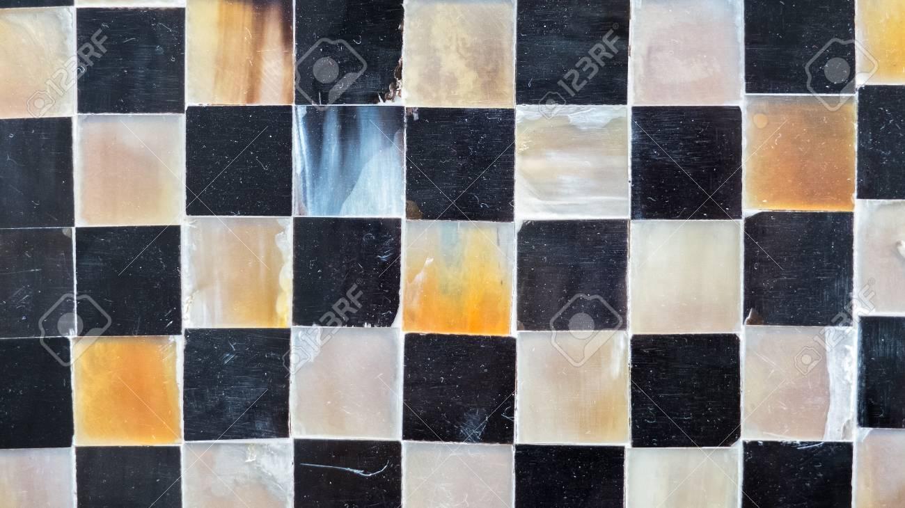 Zwart Wit Tegels : Abstracte glanzende vloeren tegel glas in monotone mix zwart wit