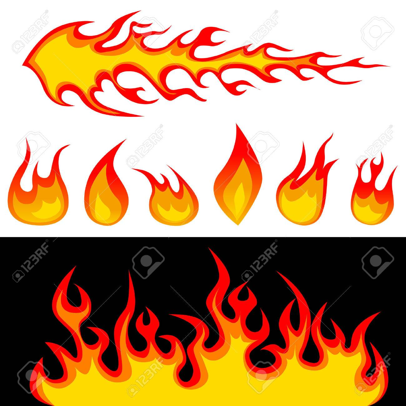 Fire Graphic Elements Royalty Free Cliparts, Vectors, And Stock ...