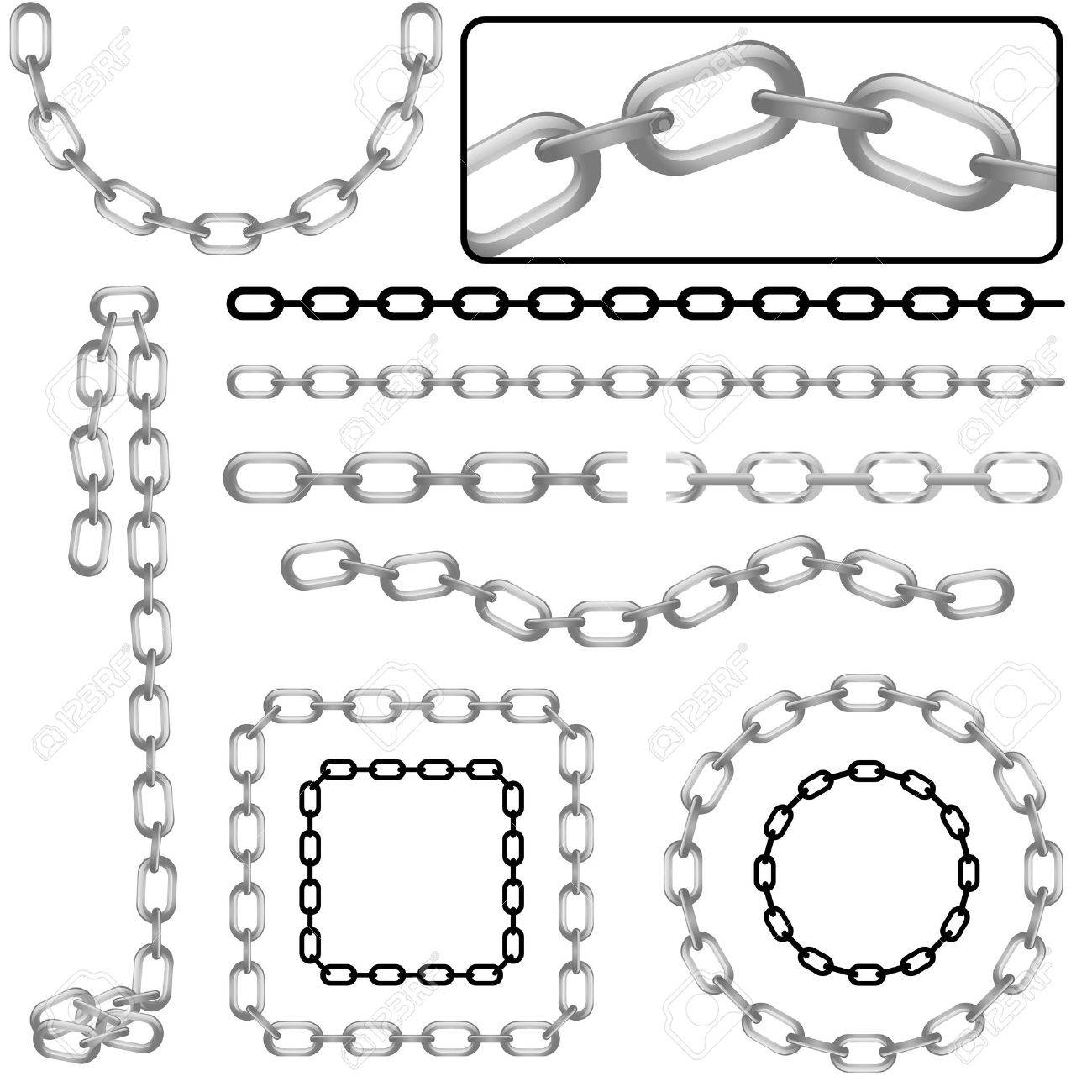 set of chain Stock Vector - 8198156